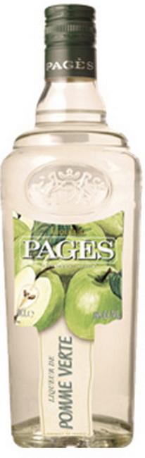 Ликер Pages De Pomme Verte Ликер Пажес Зеленое Яблоко