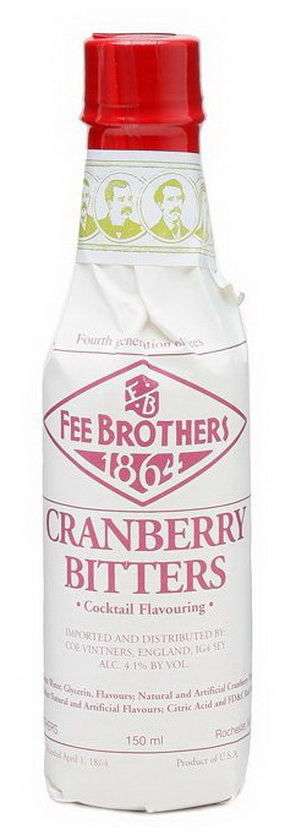 Биттер Клюква слабоалк. 0.15л США Биттер Fee Brothers Cranberry