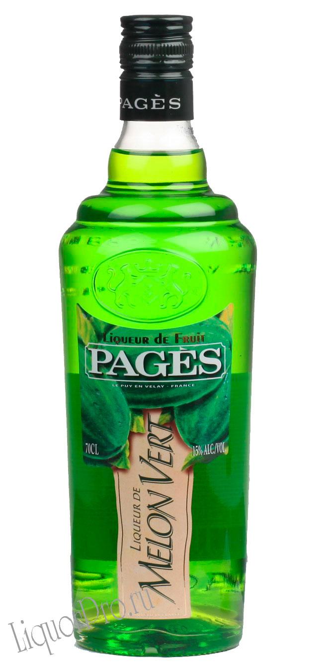 Ликер Pages Melon Vert Ликер Пажес Зеленая Дыня